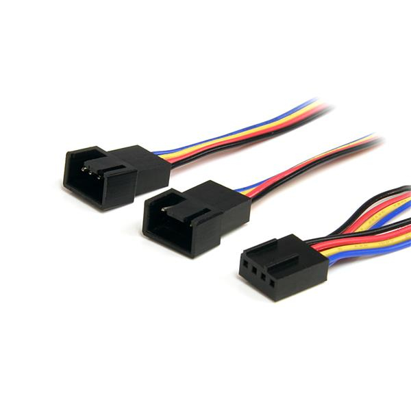 StarTech.com 30cm Y-Kabel für Lüfter - 4 Pin PWM Splitter Kabel Bu/St