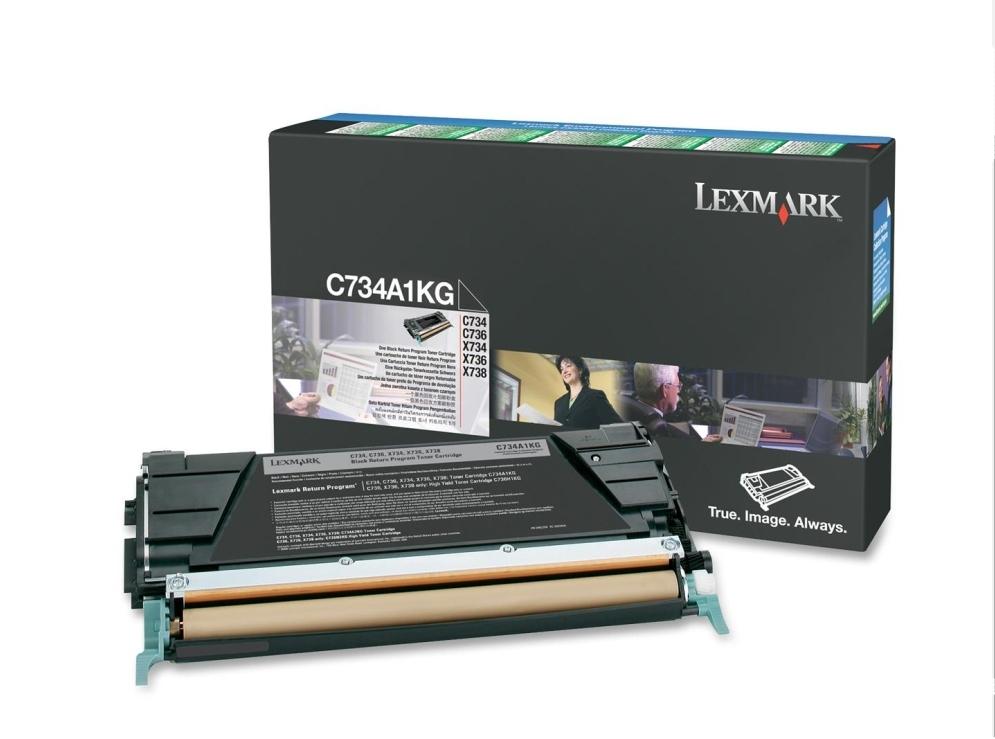 Lexmark C734A1KG Laser cartridge 8000Seiten Schwarz Lasertoner / Patrone