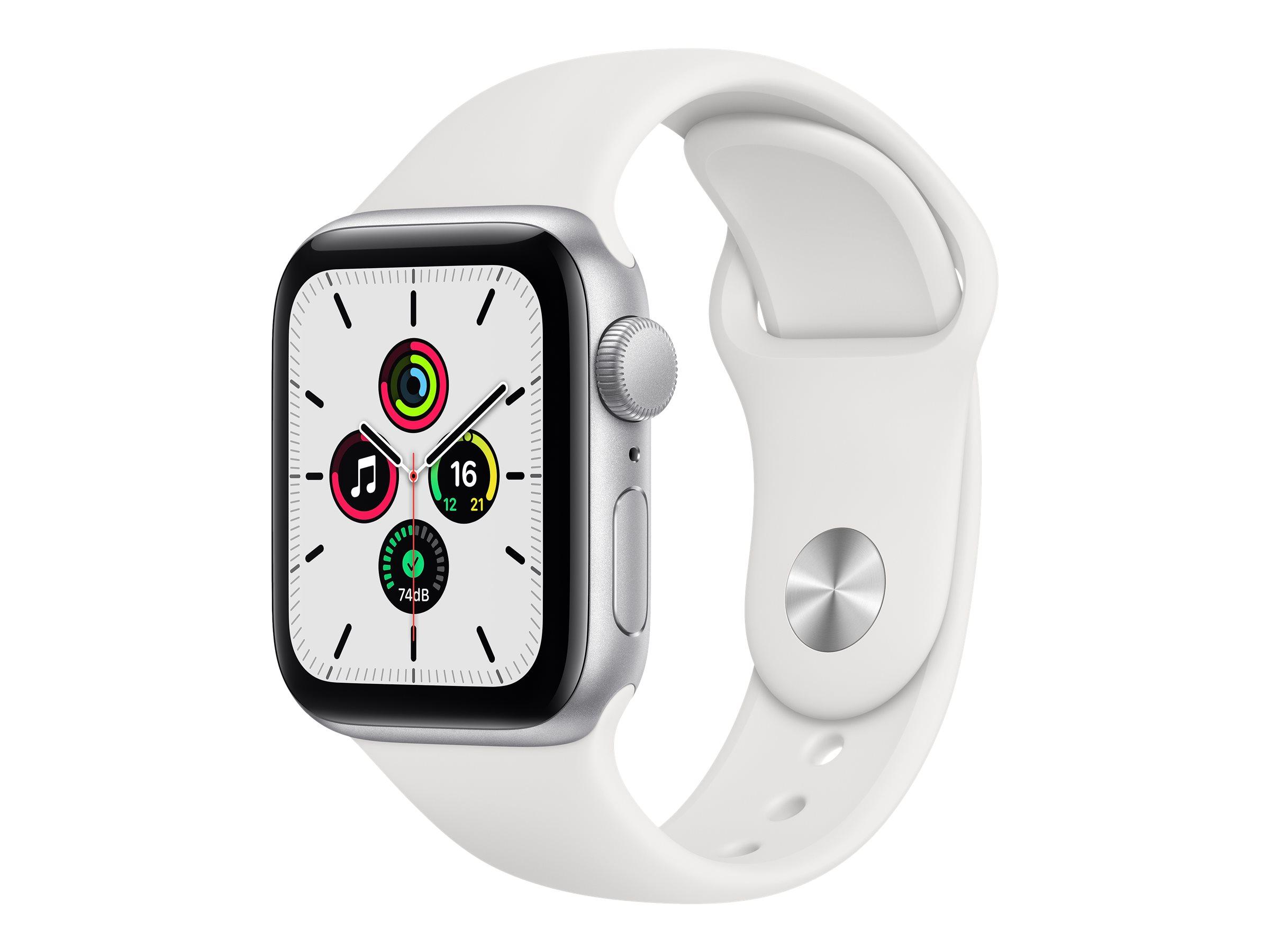 Apple Watch SE (GPS + Cellular) - 40 mm - Aluminium, Silber