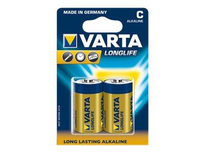 Varta Longlife 04114 - Batterie 2 x C - Alkalisch