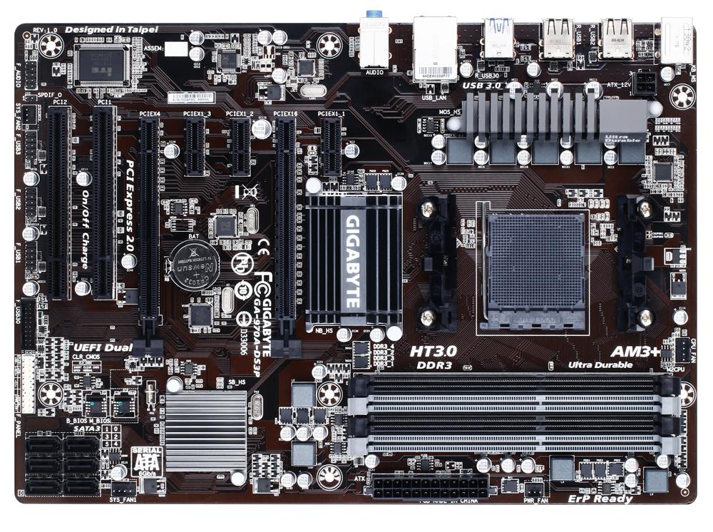 Gigabyte GA-970A-DS3P - AM3+ - 970/RAID/GBL/USB3