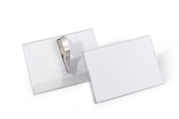 Durable 811119 - Abzeichen - Landschaft - PVC - Transparent - Weiß - Seite - Pack