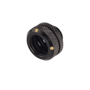 "Bitspower International Bitspower BPMBEML14 Black Fitting Liquid Brass 1/4"" 14 mm"