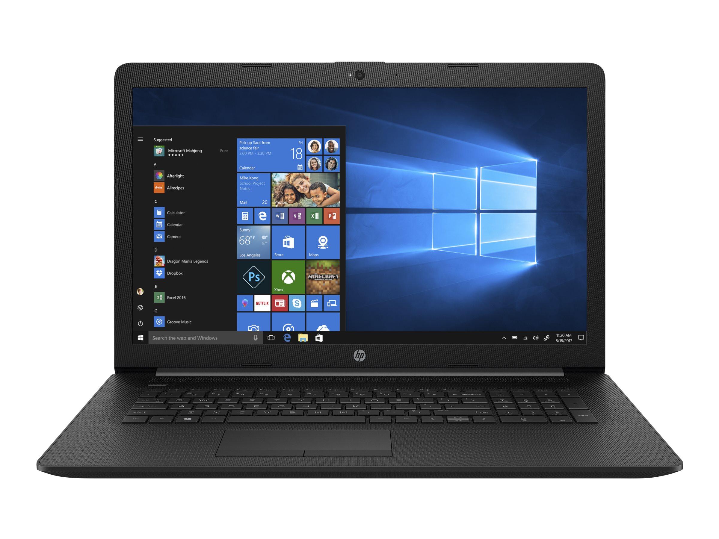 HP 17-by0400ng 1.10GHz N4000 Intel? Celeron? 17.3Zoll 1600 x 900Pixel Schwarz Notebook