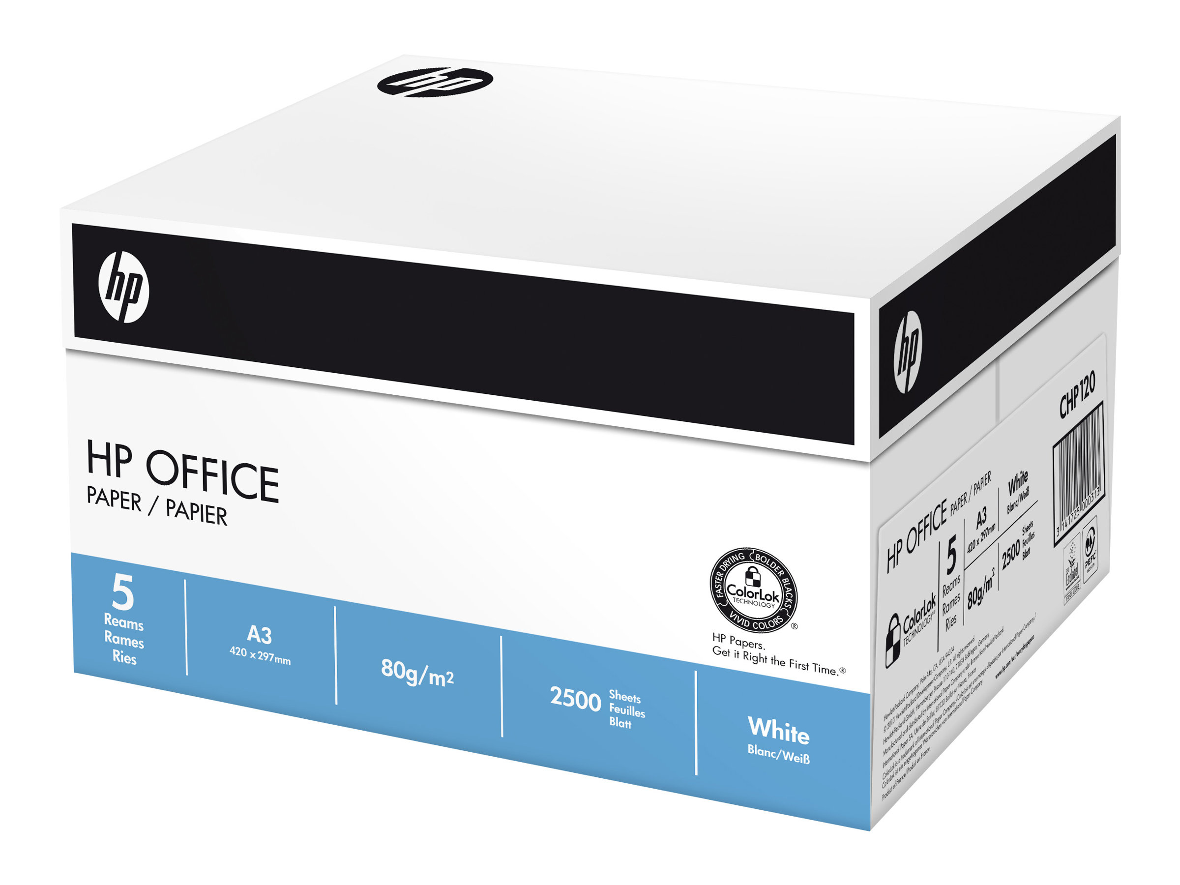 HP Office Paper - A3 (297 x 420 mm) - 80 g/m²