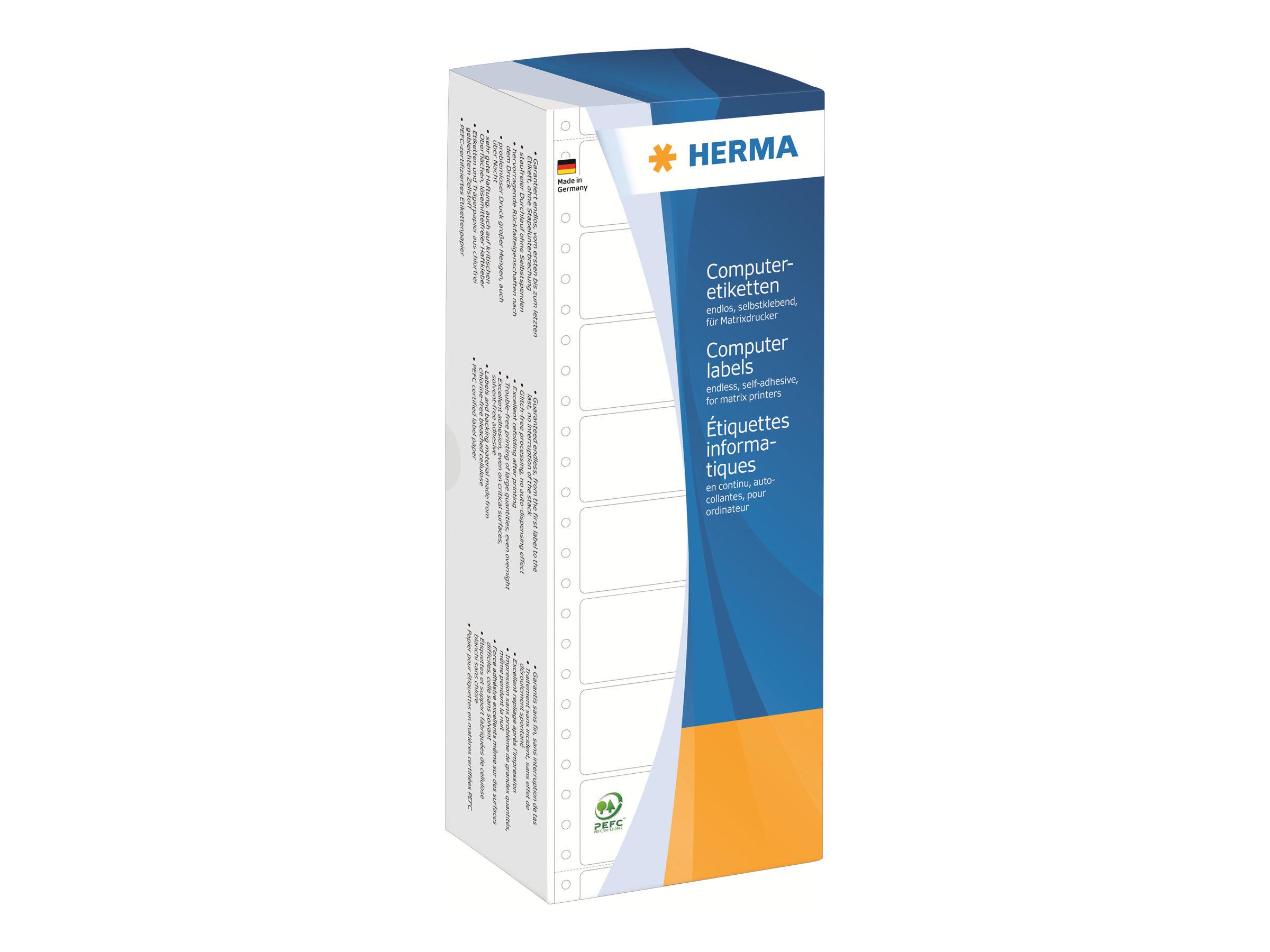 HERMA Computer labels - Papier - matt - permanent selbstklebend