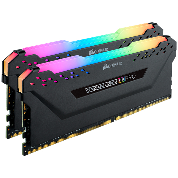 Corsair Vengeance RGB PRO - DDR4 - 16 GB: 2 x 8 GB DIMM 288-PIN - 2666 MHz / PC4-21300 - CL16 - 1.2 V - ungepuffert - non-ECC - weiß