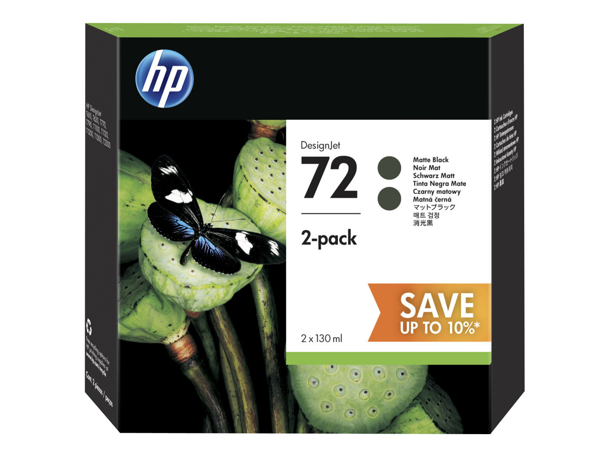 HP Tinte matt black Nr. 72 (P2V33A) je 130 ml, Doppelpack