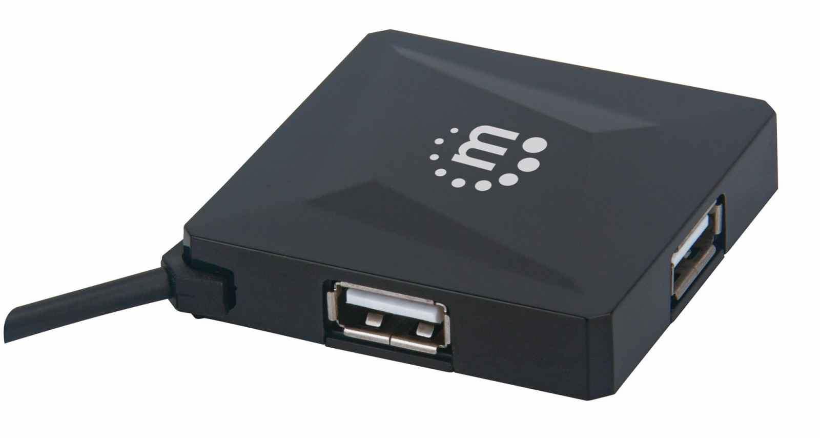 Manhattan 164818 - USB 2.0 - USB 2.0 - 480 Mbit/s - Schwarz - Kunststoff - 0,6 m