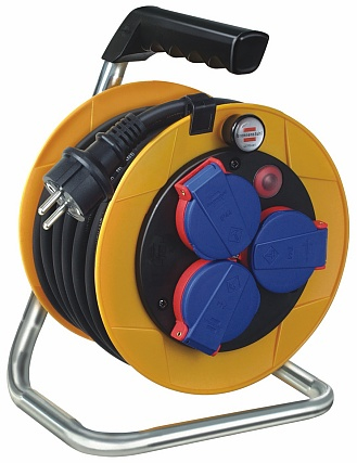 Brennenstuhl Brobusta Compact IP44 cable reel for site & professional