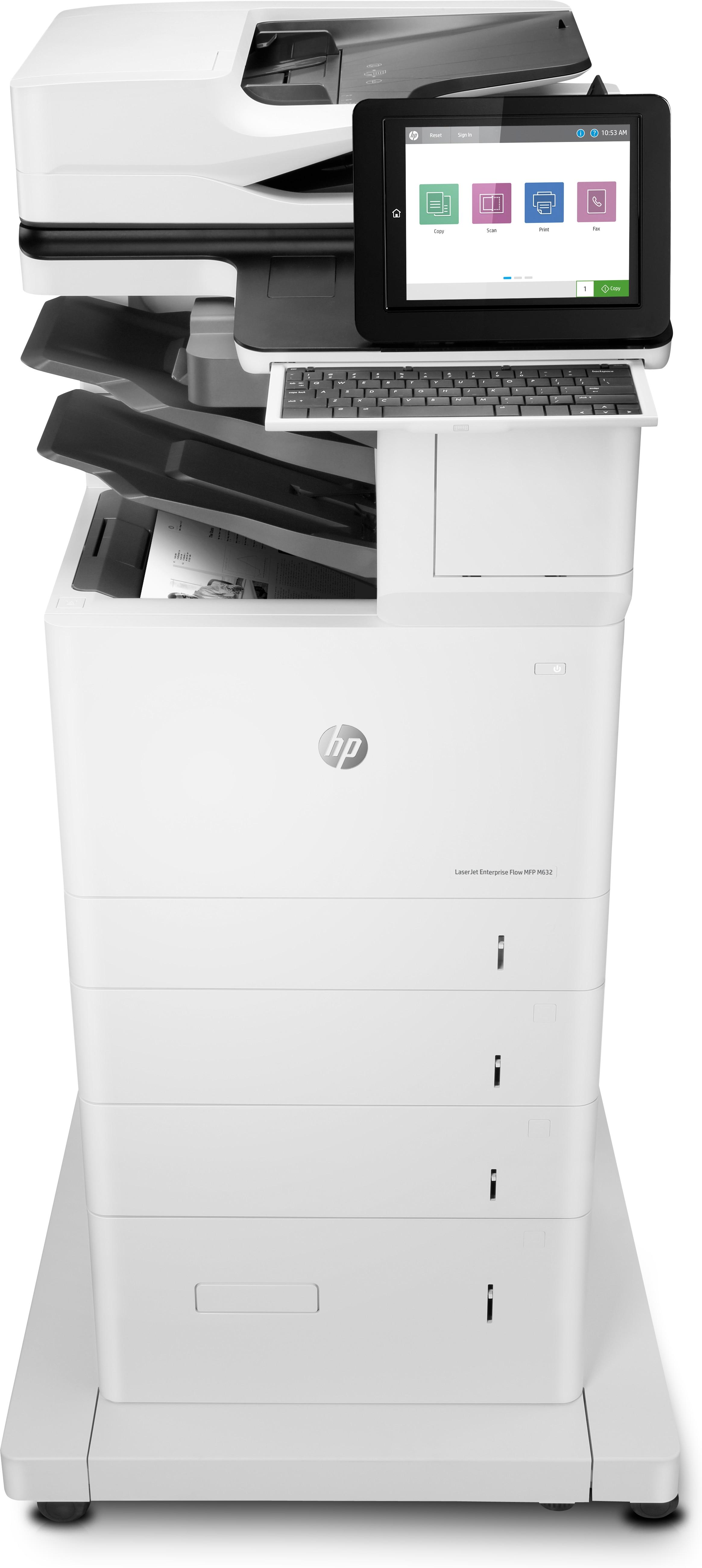 HP LaserJet Enterprise Flow M632z, S/W-Laser, MFP, A4