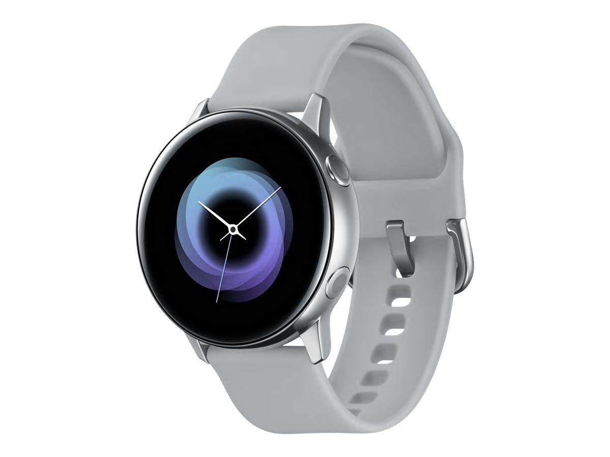 """Samsung Galaxy Watch Active - Silber - intelligente Uhr mit Band - Flouroelastomer - Anzeige 2.81 cm (1.1"""")"""