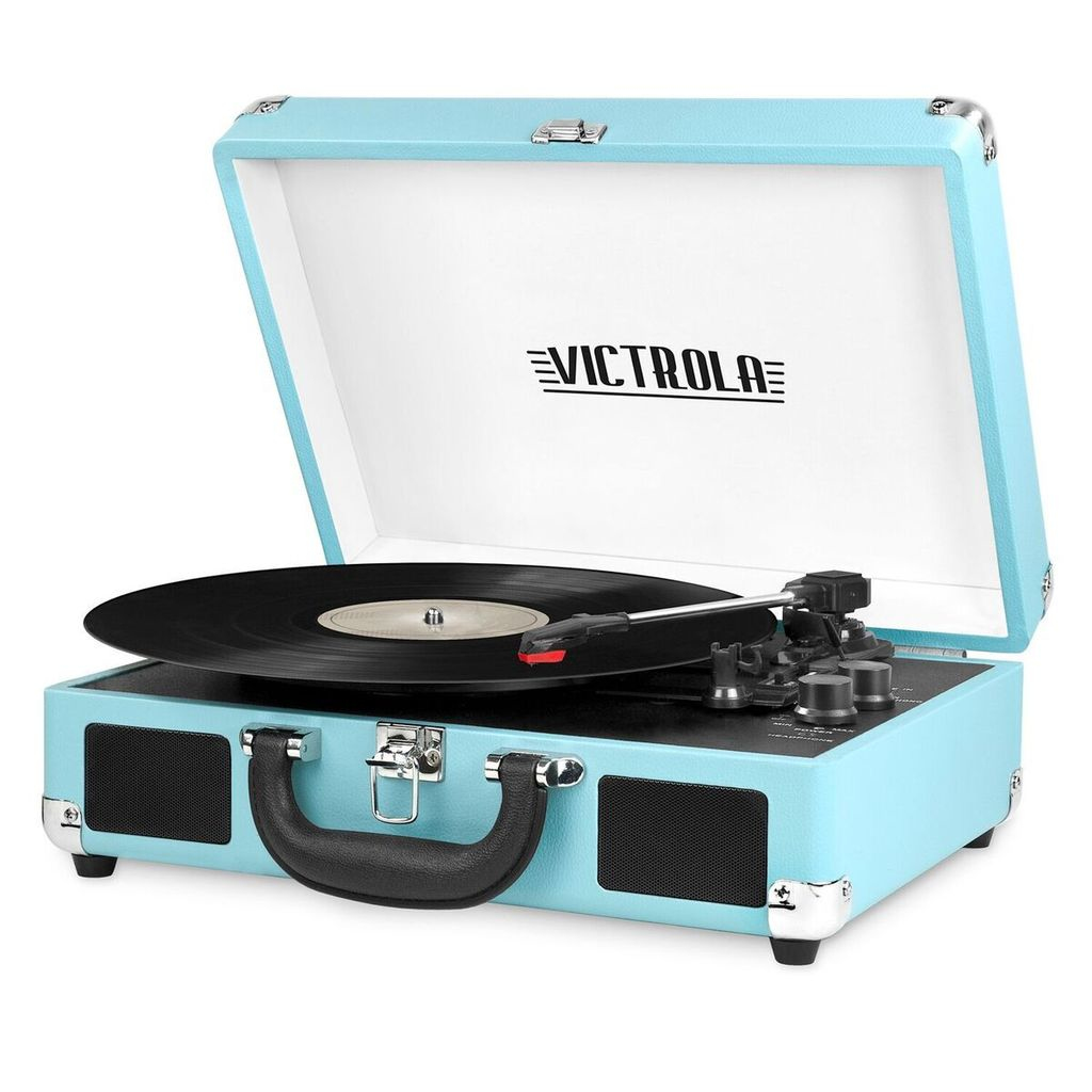 Victrola VSC-550BT-TRQ - Audio-Plattenspieler mit Riemenantrieb - Türkis - 3 W - 4 Ohm - 6 W - 100 - 240 V