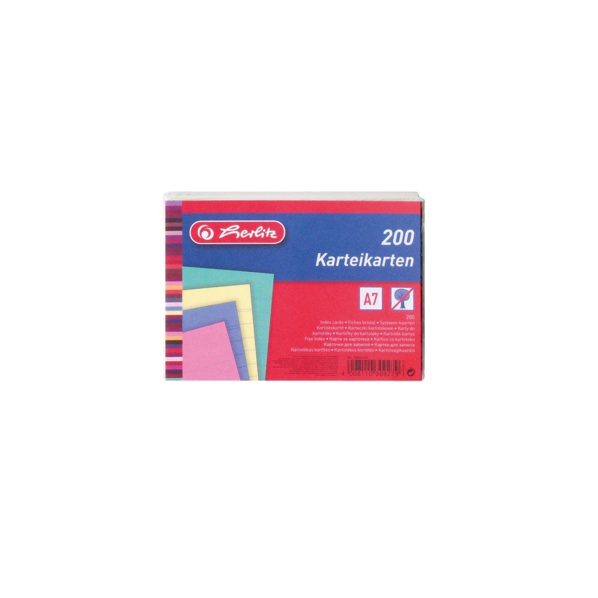 Herlitz 10836245 - Blau - Grün - Pink - Gelb - 200 Stück(e)