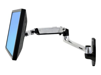 Ergotron LX Wall Mount LCD Arm - Befestigungskit (Gelenkarm, Aufbauplatte, Verlängerte Halterung)
