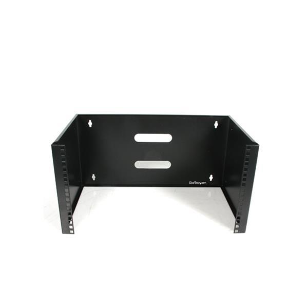 StarTech.com 6HE Wandhalterung für Patchpanel - 35,6 cm tief - 6U - Wandmontiertes Regal - 20 kg - Schwarz - Stahl - offen