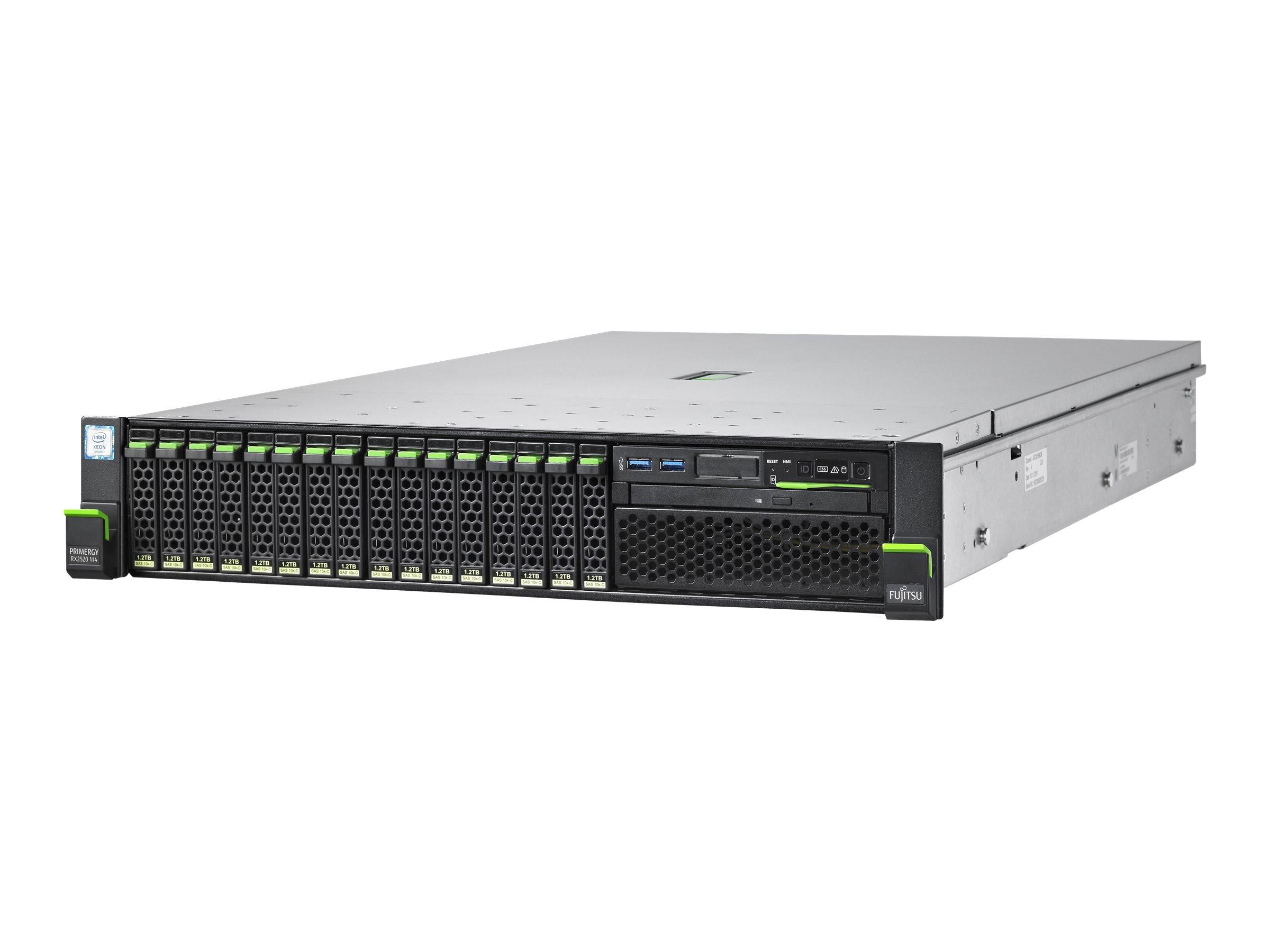 Fujitsu PRIMERGY RX2520 M4 - Server - Rack-Montage - 2U - zweiweg - 1 x Xeon Silver 4110 / 2.1 GHz - RAM 16 GB - SATA -