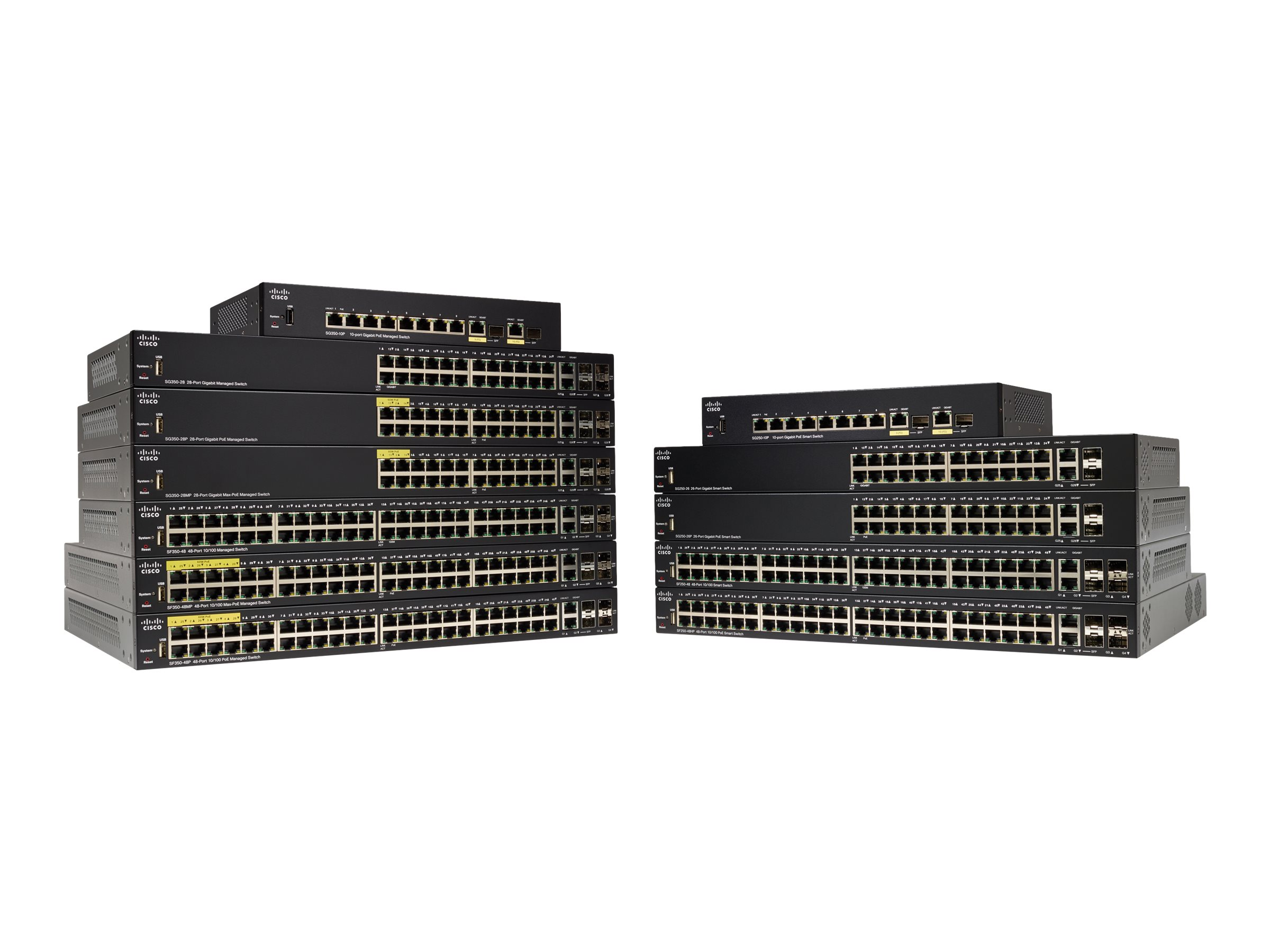 Cisco Small Business SF350-08 - Switch - L3 - managed
