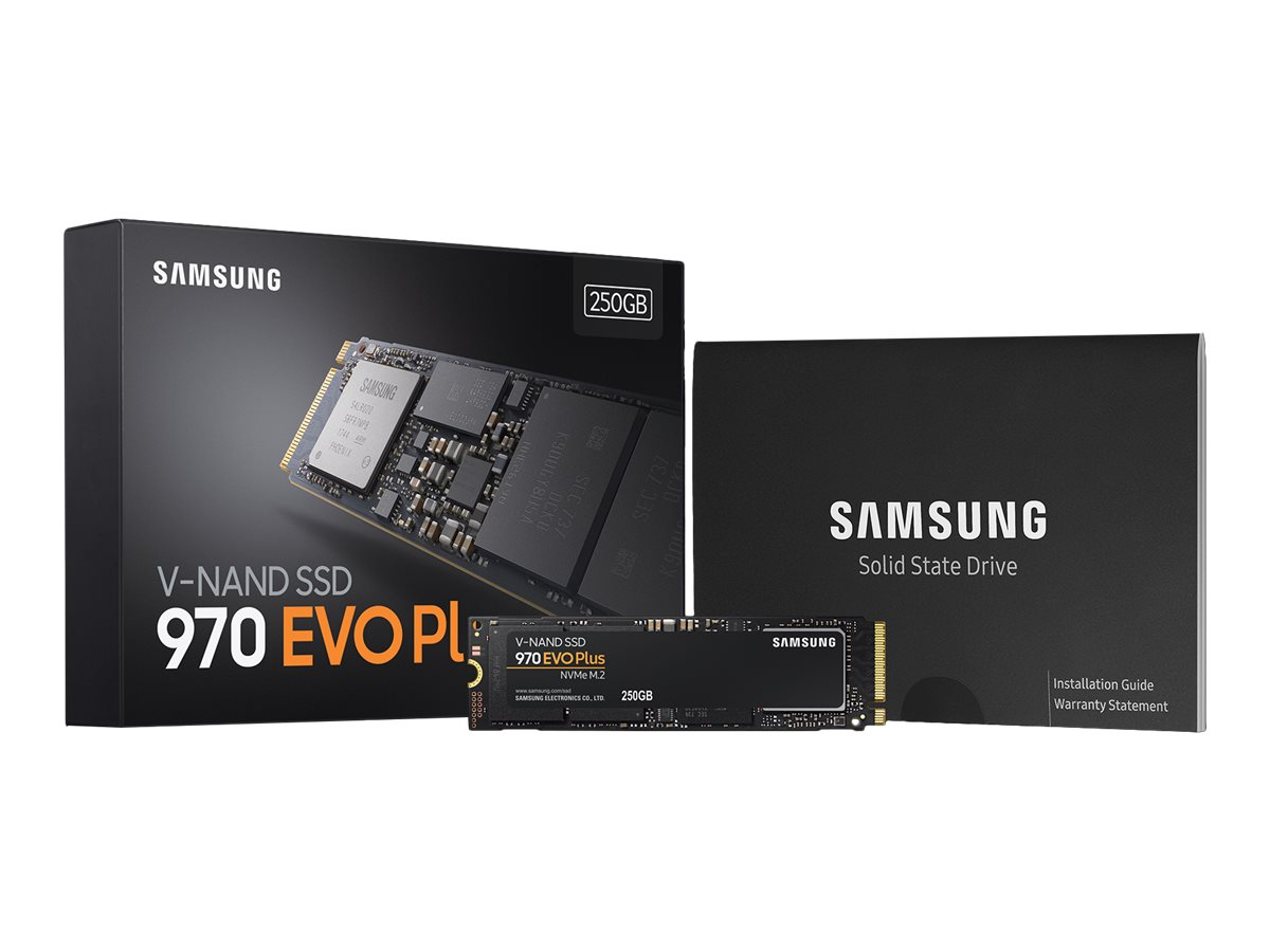 Samsung 970 EVO Plus MZ-V7S250BW - 250 GB SSD - intern - M.2 2280 - PCI Express 3.0 x4 (NVMe)