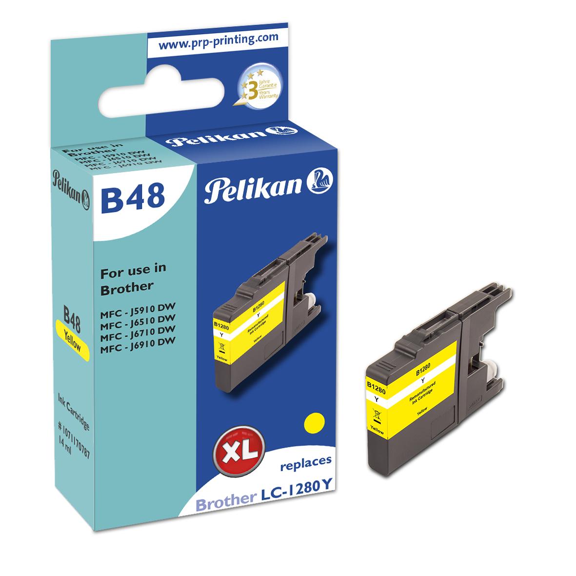 Pelikan B48 Yellow - Box - Tintenpatrone Wiederaufbereitet, Kompatibel - Yellow