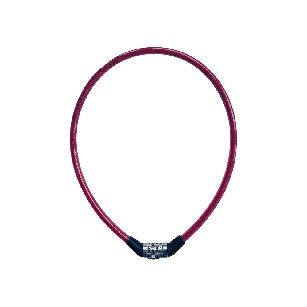 Rieffel 8-650C RED - Kabelschloss - Schwarz - Rot - Stahl - 4-stellige Kombination - 65 cm - 150 g