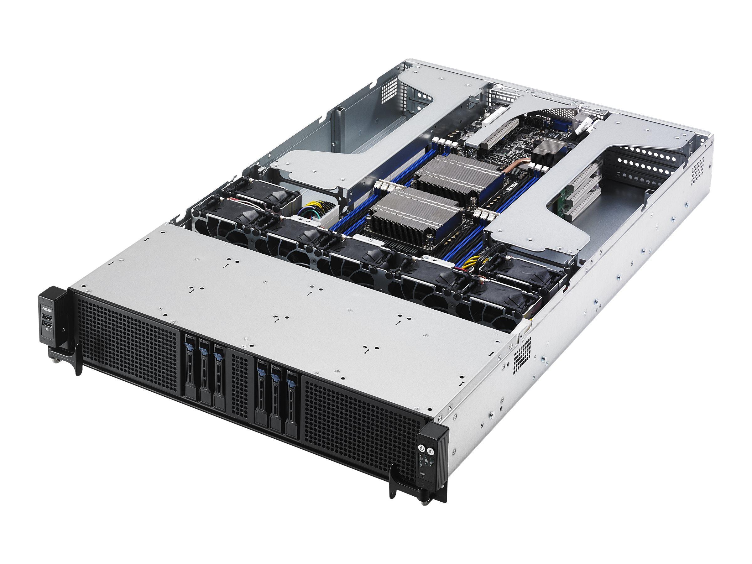 "ASUS ESC4000 G3S - Server - Rack-Montage - 2U - zweiweg - keine CPU - RAM 0 GB - SATA - Hot-Swap 6.4 cm (2.5"")"