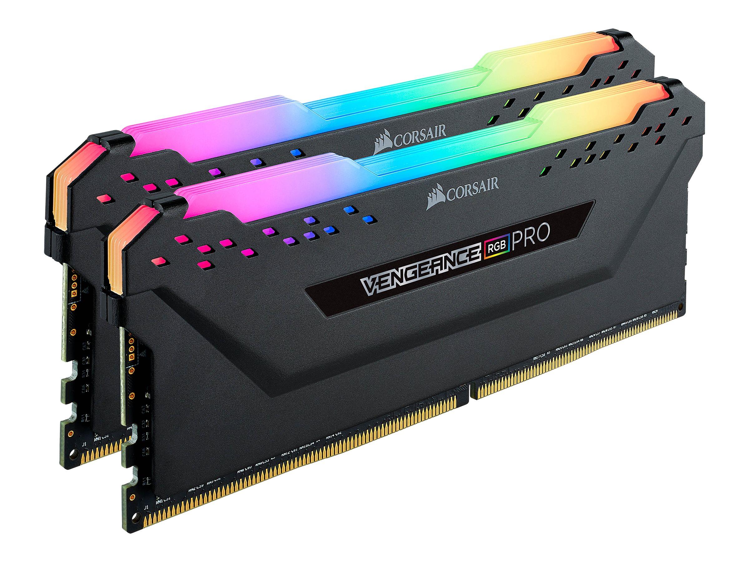Corsair Vengeance RGB PRO - DDR4 - 32 GB: 2 x 16 GB DIMM 288-PIN - 2666 MHz / PC4-21300 - CL16 - 1.2 V - ungepuffert - non-ECC - Schwarz