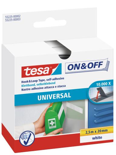 Tesa 55225-00000 - Velour - Schwarz - 20 mm - 2,5 m - 1 Stück(e) - Box