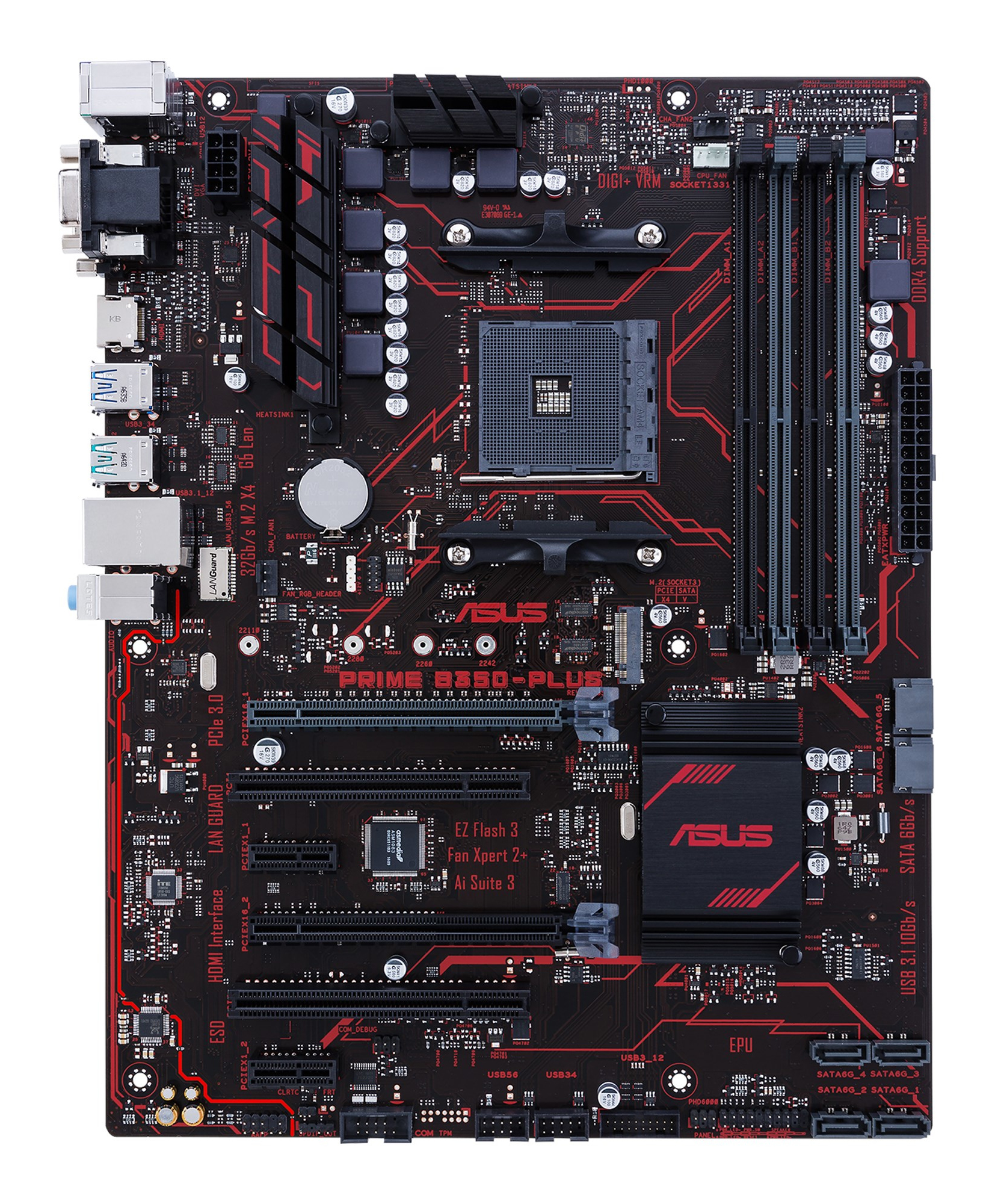 ASUS PRIME B350-PLUS AMD B350 Socket AM4 ATX Mainboard