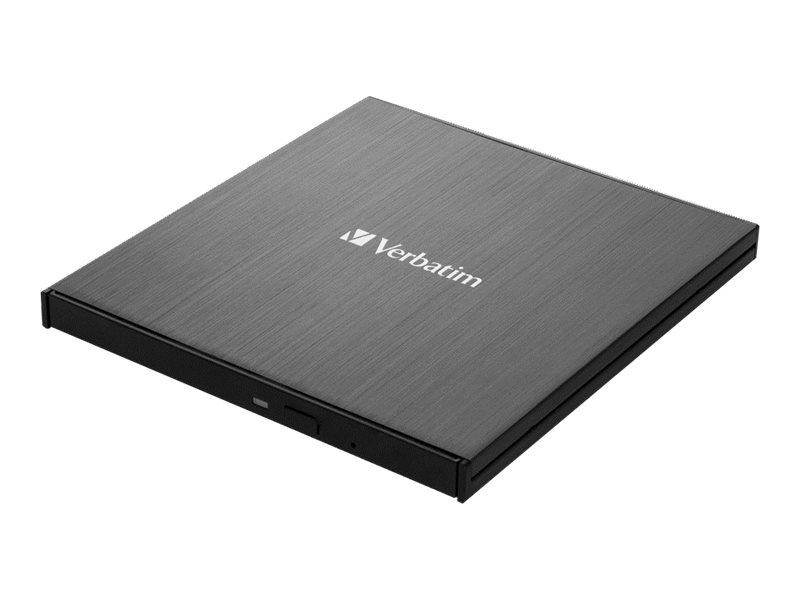 Verbatim Ultra HD 4K - Laufwerk - BDXL Writer - 6x/4x - SuperSpeed USB 3.1 Gen 1 - extern (13.3 cm Slim Line)