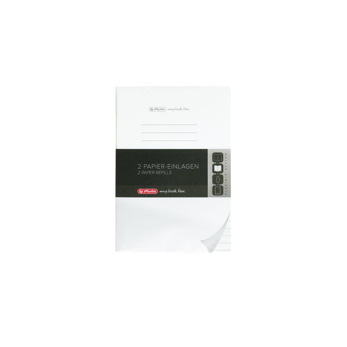 Herlitz 50034123 - Papier-Ersatzeinlagen - für Notizheft my.book flex - DIN A5