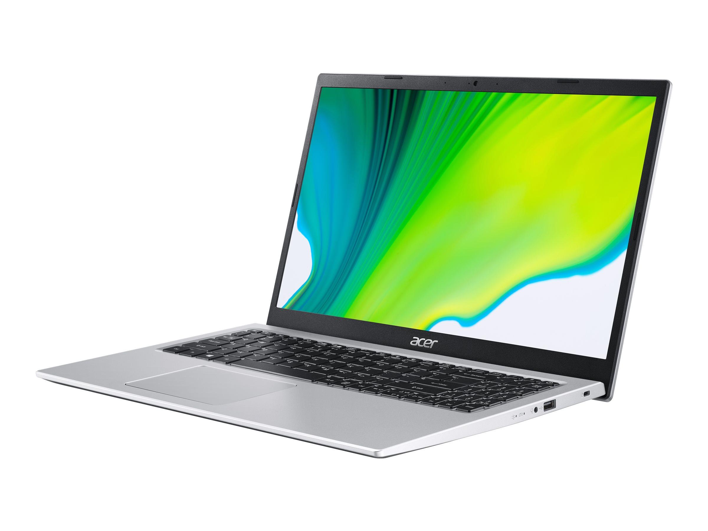 Acer Aspire 3 A315-35-P5JU - Pentium Silver N6000 / 1.1 GHz - Win 10 Home 64-Bit - 8 GB RAM - 512 GB SSD QLC - 39.6 cm (