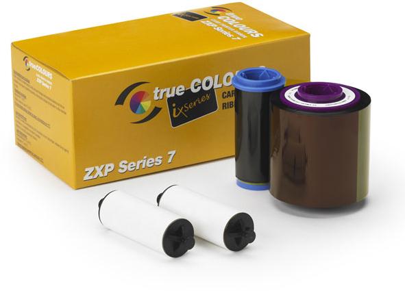 Zebra TrueColours ix Series - 1 - weiß - Farbband