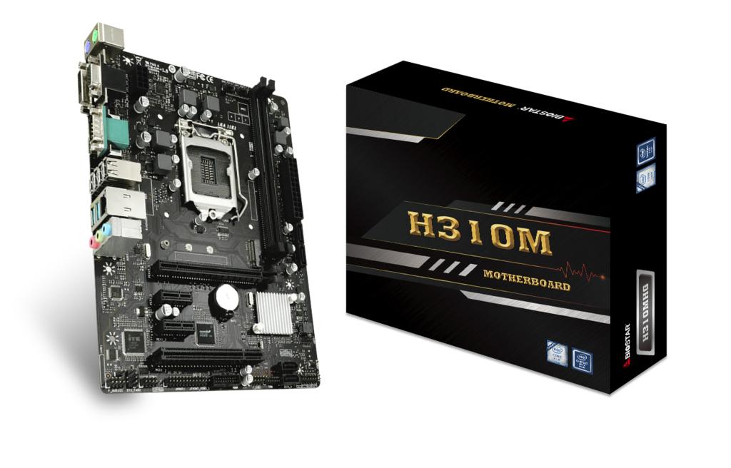 Vorschau: Biostar H310MHG - Intel - LGA 1151 (Socket H4) - Intel® Celeron® - Intel® Core™ i3 - Intel Core i5 - Intel Core i7 - Intel Core i9 - Intel® Pentium® - DDR4-SDRAM - DIMM - 1866,2133,2400,2666 MHz