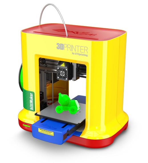 XYZprinting 3FM1XXEU00D Schmelzfadenherstellung (FFF) Gelb 3D-Drucker