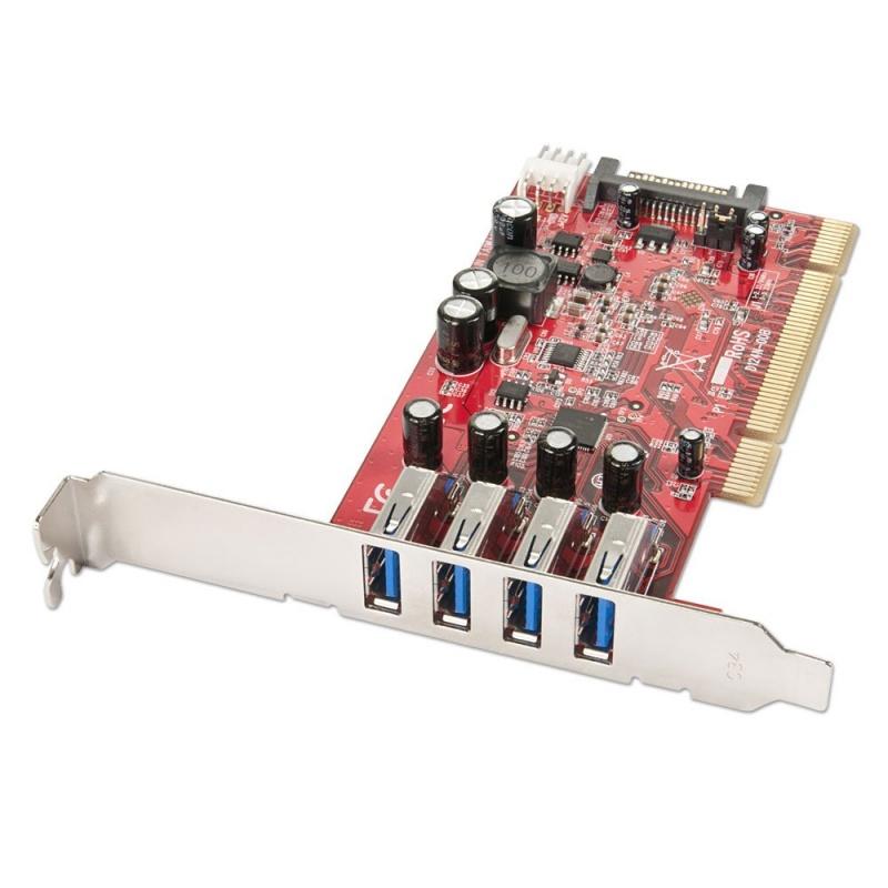 Lindy USB-Adapter - PCI Express 3.0 - USB 3.0 x 4