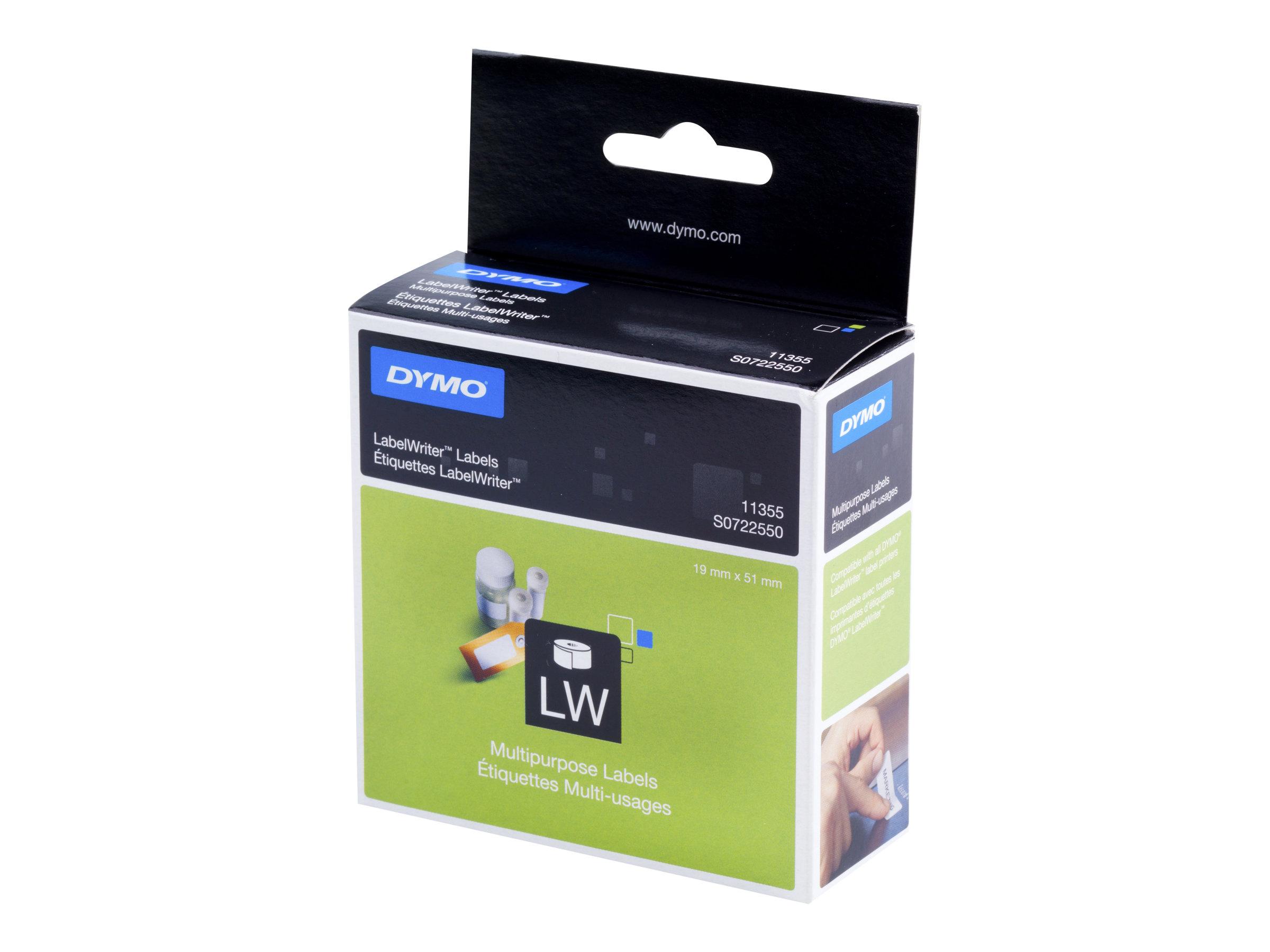 Dymo LabelWriter MultiPurpose - Weiß - 19 x 51 mm 500 Etikett(en) (1 Rolle(n)