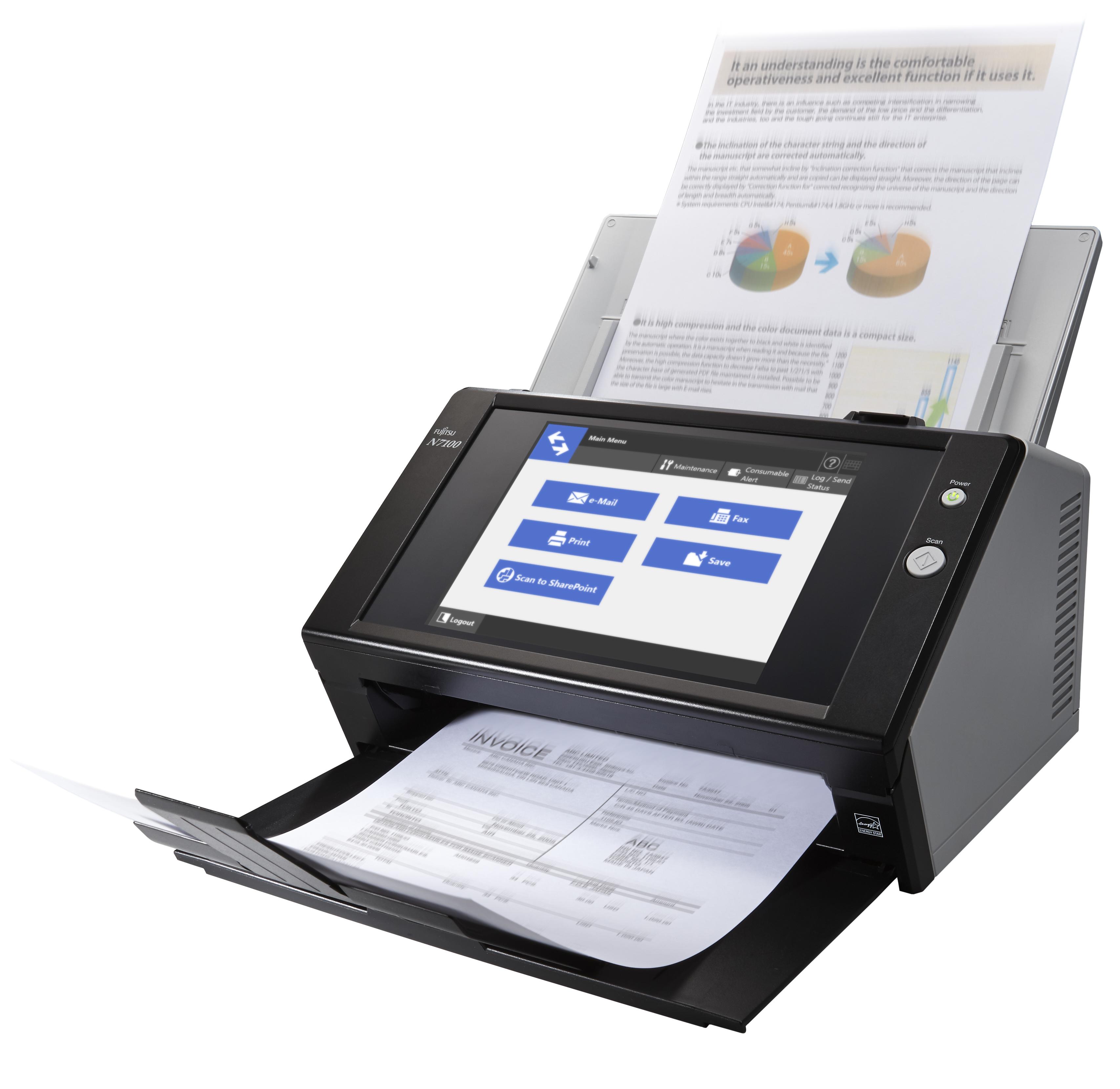 Fujitsu Network Scanner N7100 - Dokumentenscanner - 600x600 dpi - A4