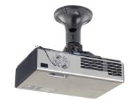 Beamer-Deckenhalterung - Zimmerdecke - 10 kg - Schwarz - 360° - 0 - 90° - 185 mm