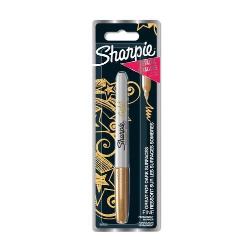 Sharpie Metallic Marker Permanent F 1.4mm Gold 1er Blister