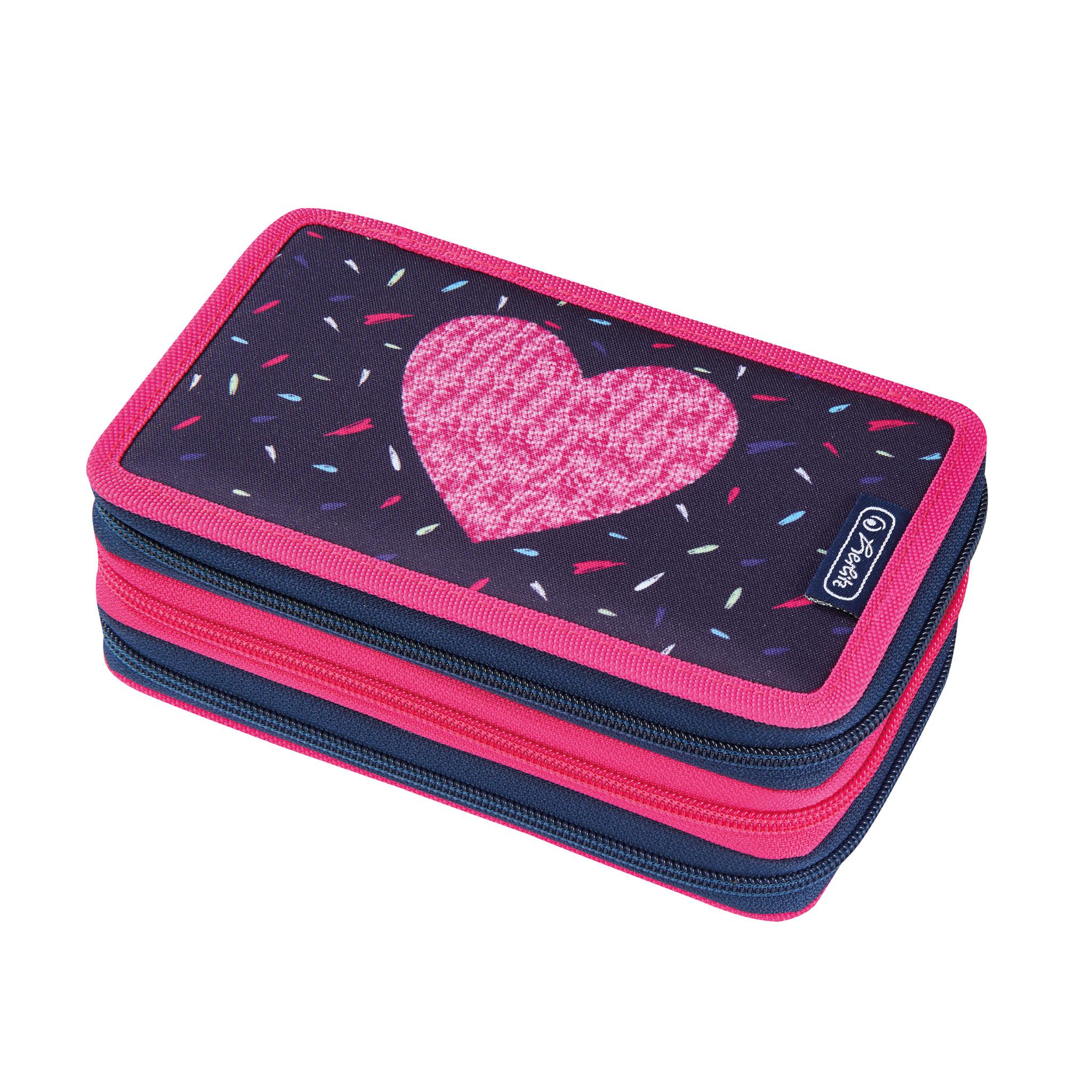 Herlitz 50026210 - Federmäppchen - Tropical Heart - Pink - Violett - Polyester