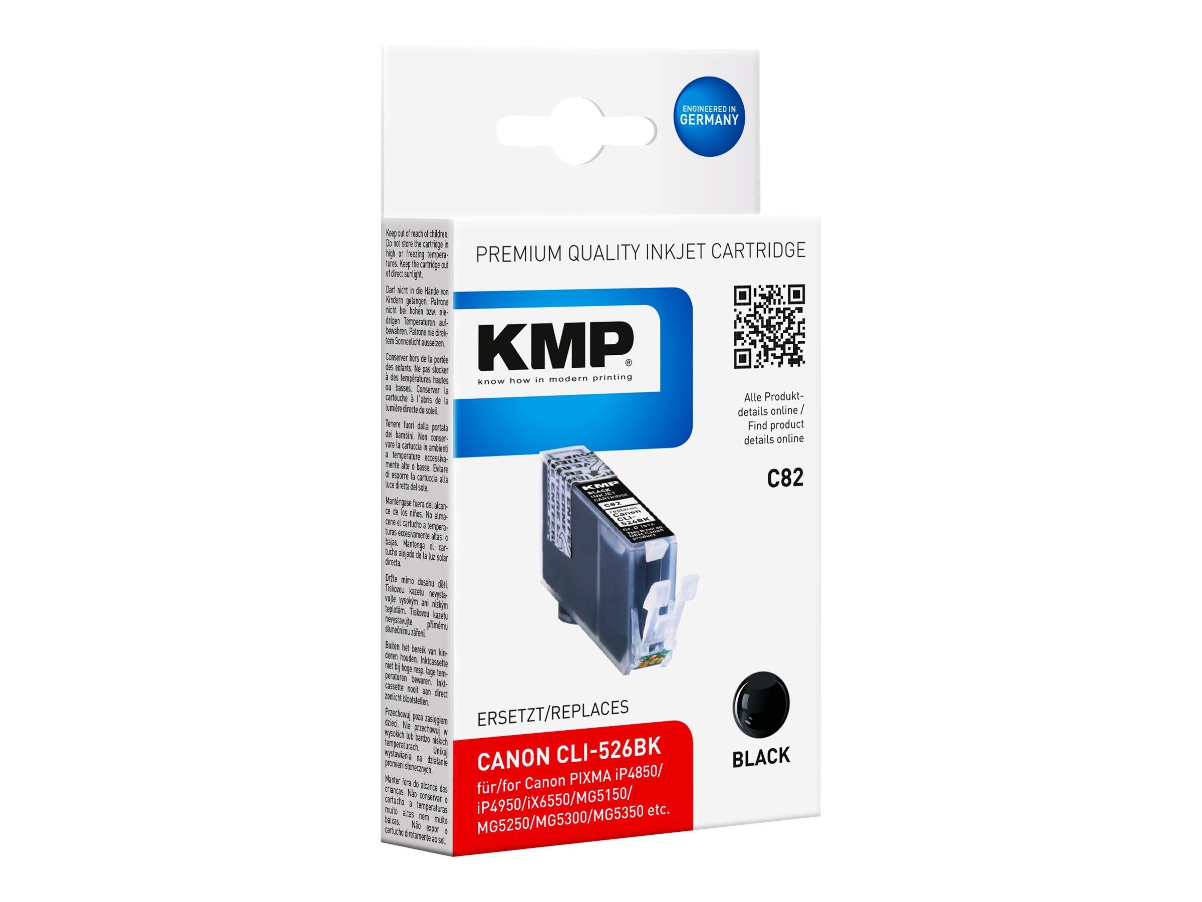 KMP C82 - 9 ml - Schwarz - compatible - Tintenpatrone