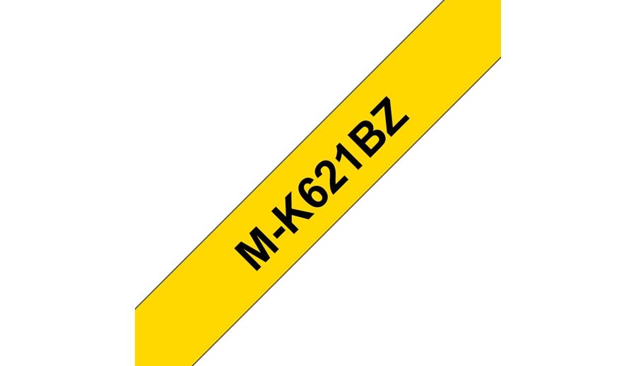 Brother Schriftband m-K621 nicht lam. Schwarz auf Gelb 9 mm x 8 m - Etiketten/Beschriftungsbänder