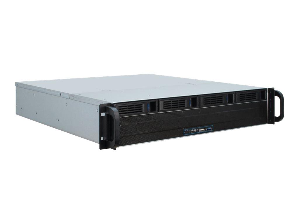Inter-Tech IPC 2U-2404L - Rack-Montage - 2U - micro ATX - SATA/SAS - Hot-Swap - ohne Netzteil (ATX / PS/2)