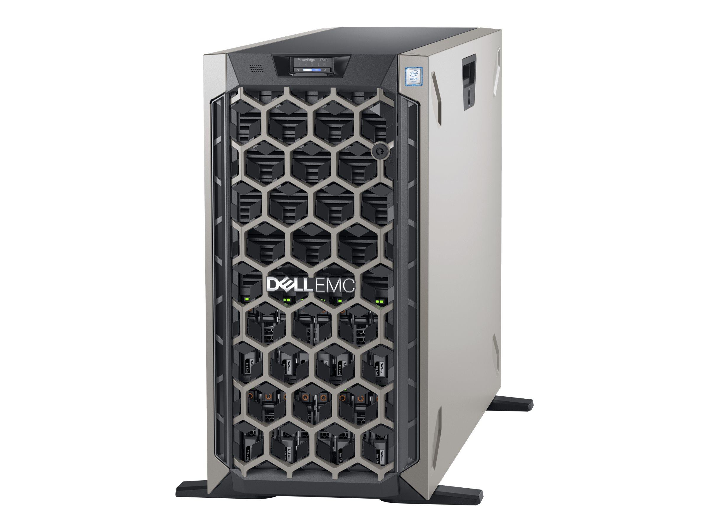 Dell EMC PowerEdge T640 - Server - Tower - 5U - zweiweg - 1 x Xeon Silver 4110 / 2.1 GHz - RAM 16 GB - SAS - Hot-Swap 6.