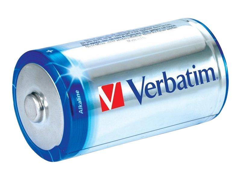 Verbatim Batterie 2 x C - Alkalisch