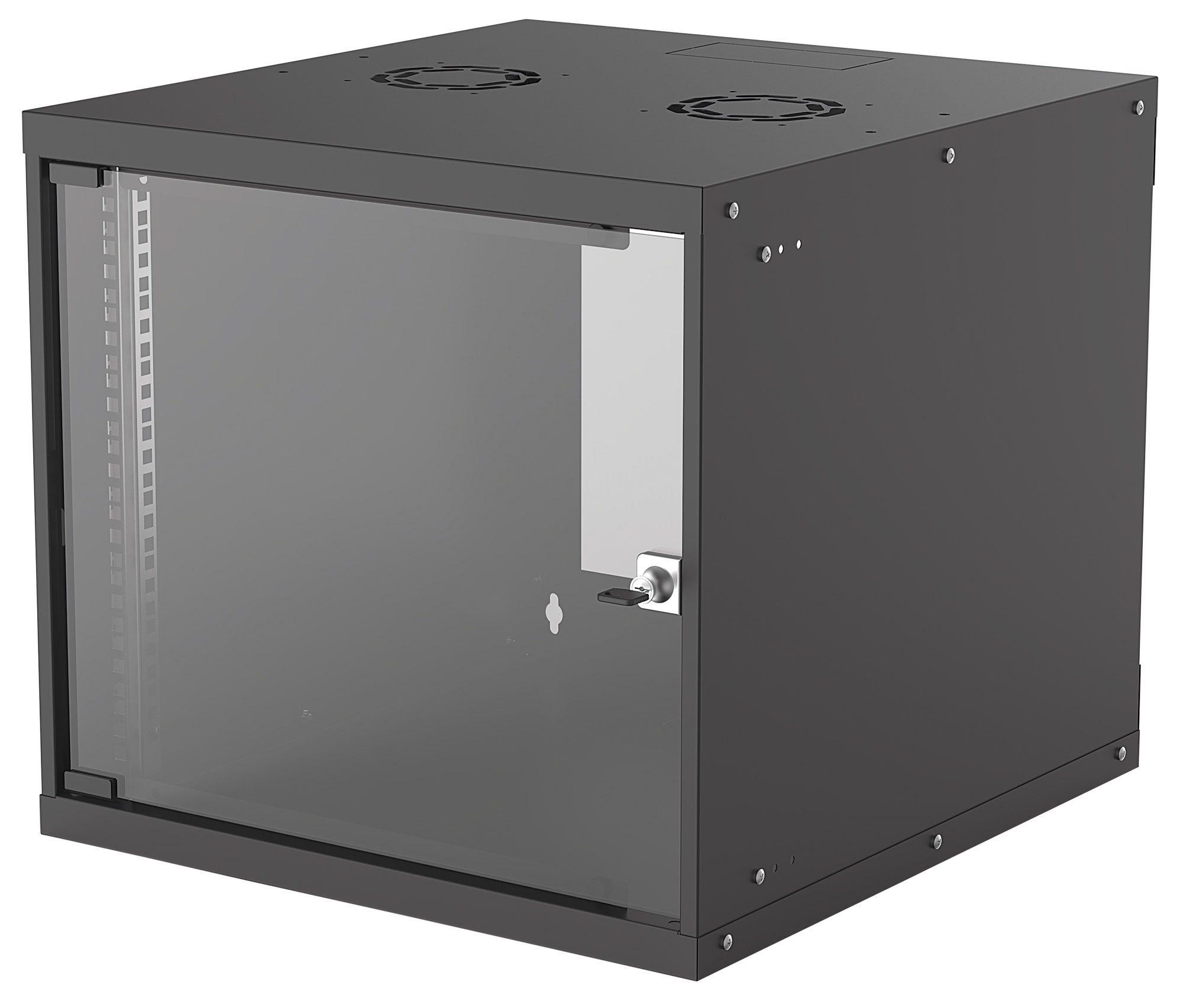 Intellinet 714808 - 9U - Wandmontiertes Regal - 50 kg - Schwarz - Galvanisiertes Stahl - Geschlossen