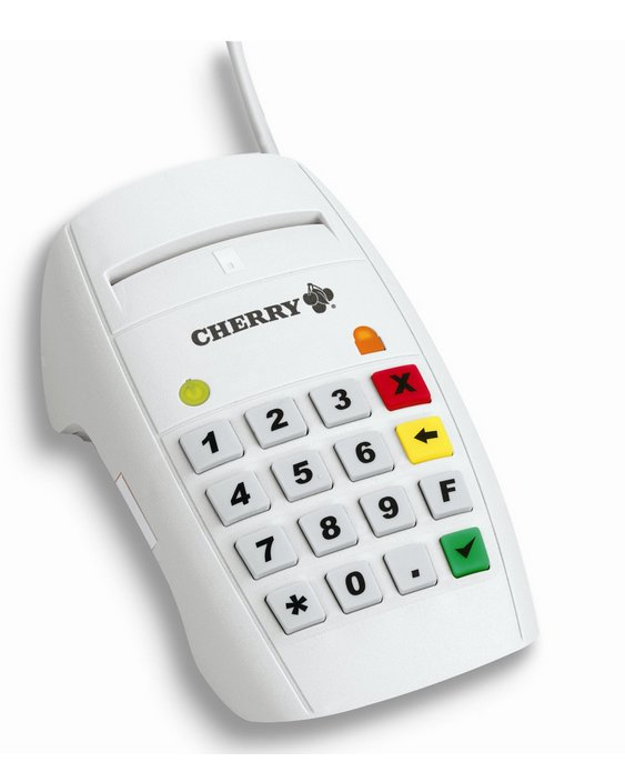 Cherry Advanced Performance Line eHealth Terminal ST-2052 - Tastatur - 16 Tasten - Weiß