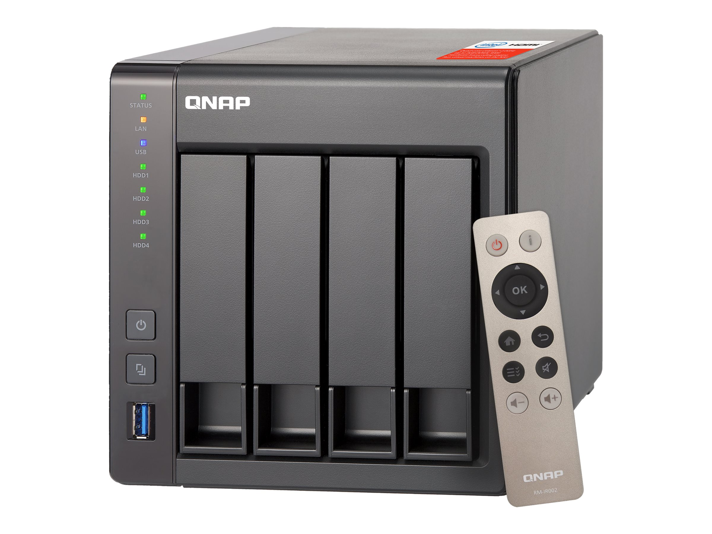 Vorschau: QNAP TS-451+ - NAS-Server - 4 Schächte - 16 TB