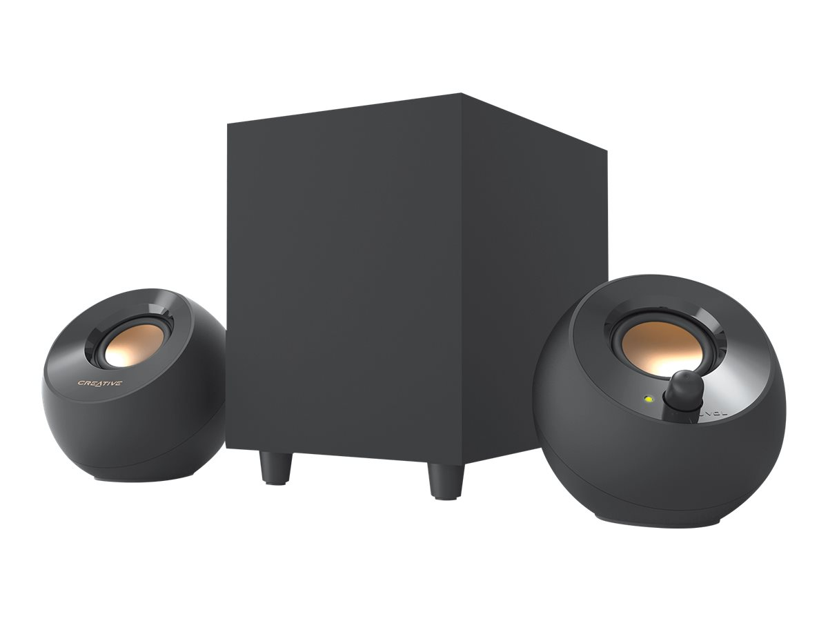 Creative Pebble Plus - Lautsprechersystem - für PC - 2.1-Kanal - 8 Watt (Gesamt)